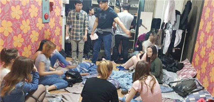 Migrant workers are caught working illegally in Korea. Courtesy of Ministry of Justice