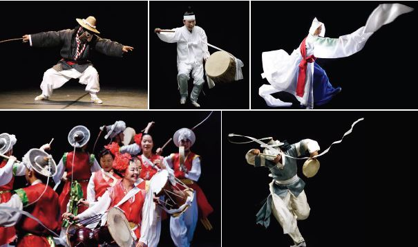Band SsingSsing, a fusion of traditional Korean vocals with modern genres and an extravagant visual style, perform in New York, Jan. 8, 2017. / Courtesy of Lee Hee-moon Company