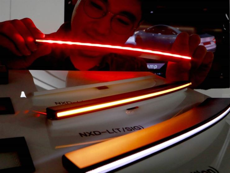 Nexlide-L, a line lighting module for vehicles, developed by LG Innotek / Courtesy of LG Innotek