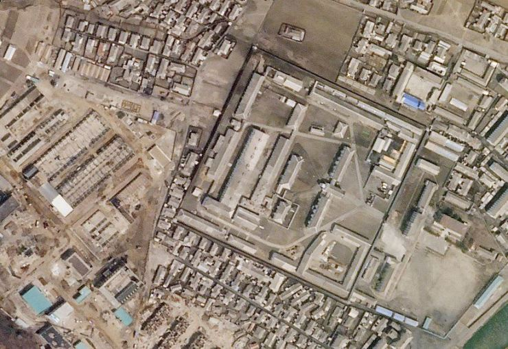 A North Korean missile production facility in the city of Hamhung is seen from a satellite image taken on April 1, 2018. Yonhap