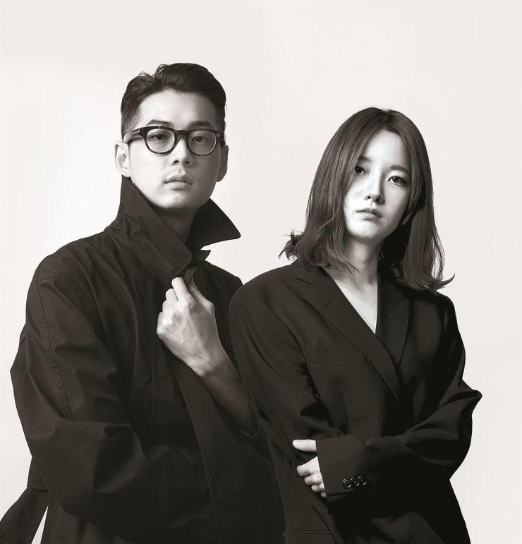 Designers Shin Kyu-yong, left and Park Ji-sun / Courtesy of Blindness