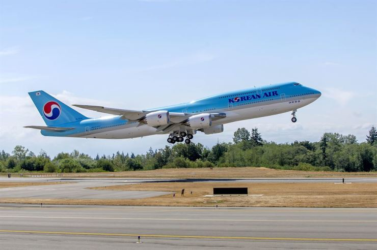 An image of a Korean Air Boeing 747-8i taking off at Incheon International Airport / Courtesy of Korean Air