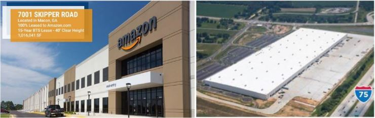 Seen above is Amazon's local distribution center in the U.S. state of Georgia. Mirae Asset Daewoo said Thursday it invested $78 million in acquiring the center. / Courtesy of Mirae Asset Daewoo