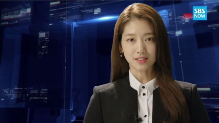 Park Shin-hye played TV news reporter Choi In-ha in SBS's 'Pinocchio' (2014). Screen capture from SBS