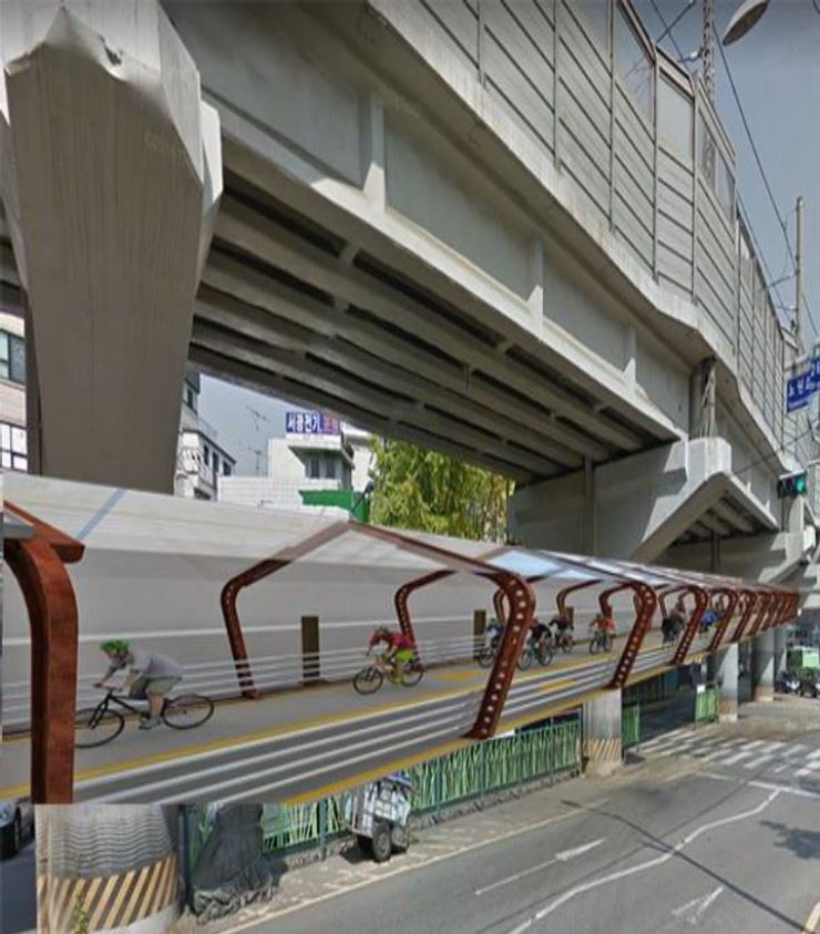 Seoul unveils blueprint for elevated bike paths