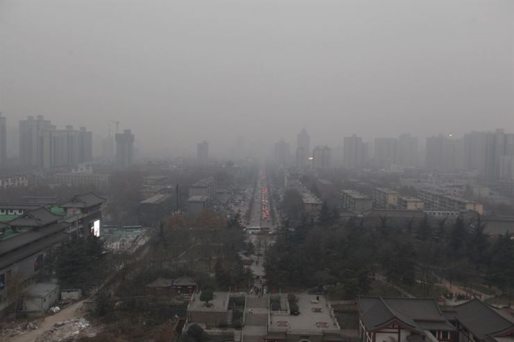 Fine dust blankets the Chinese city of Xian. gettyimagesbank