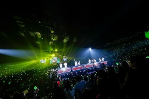 NCT127 performs in a concert in Japan. Courtesy of SM Entertainment
