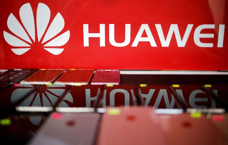 The logo of Huawei is pictured at a mobile phone shop in Singapore, May 21. Reuters