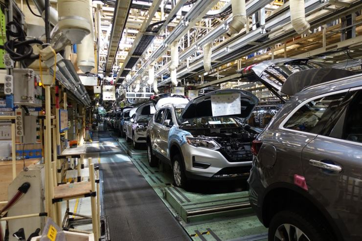 A Renault Samsung assembly line at its Busan plant is halted due to a strike in this undated file photo. Courtesy of Renault Samsung