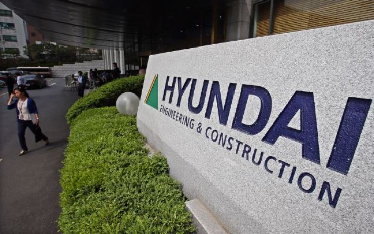 The headquarters of Hyundai Engineering & Construction in Seoul. Yonhap