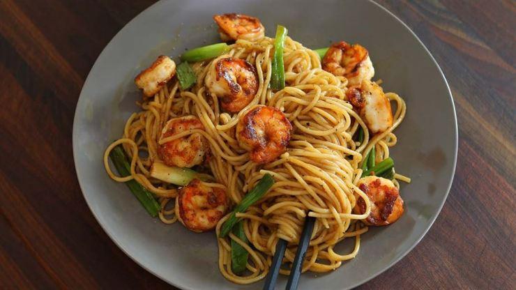 Wasabi Shrimp Spaghetti
