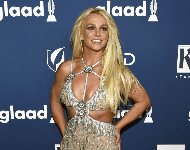 Britney Spears arrives at the 29th annual GLAAD Media Awards in Beverly Hills, Calif., in this April 12, 2018 file photo. AP-Yonhap