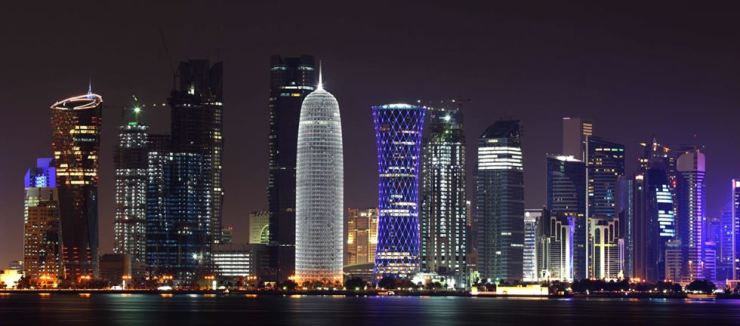 Skyline of Doha downtown. Korea Times photo by Park Si-soo