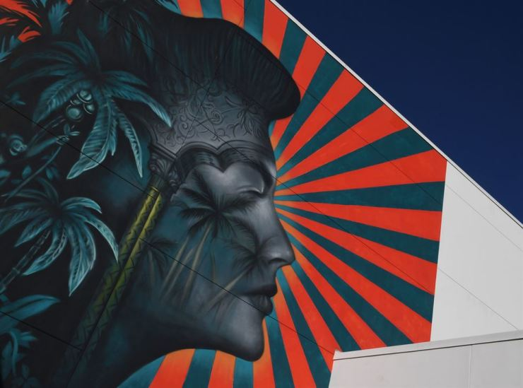 The controversial mural by artist Beau Stanton at the Robert F. Kennedy Community School in Los Angeles. AFP
