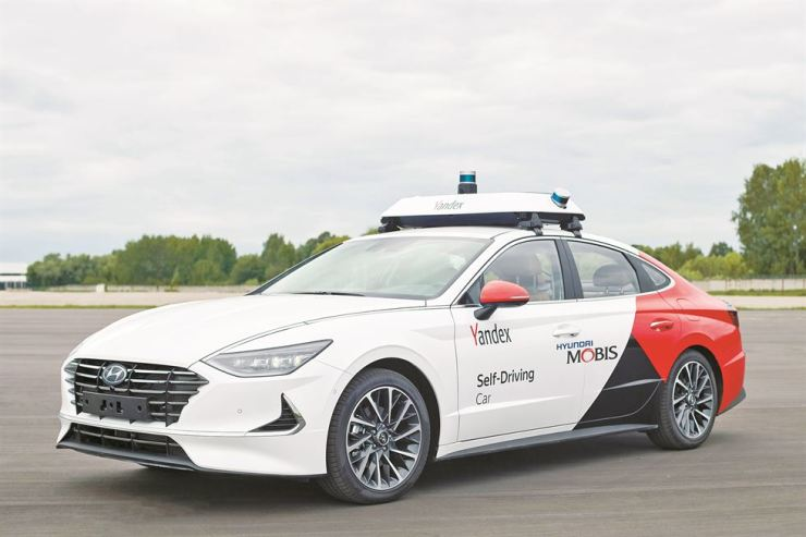 A self-driving car jointly developed by Hyundai Mobis and Yandex / Courtesy of Hyundai Mobis