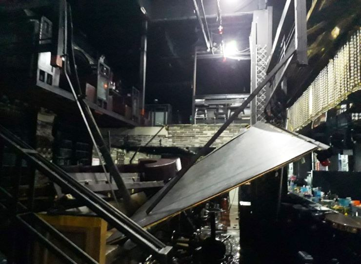 A night club inside a building in Gwangju collapsed on Saturday morning, killing two and injuring more than then, including athletes from FINA World Championships held at the city. Yonhap