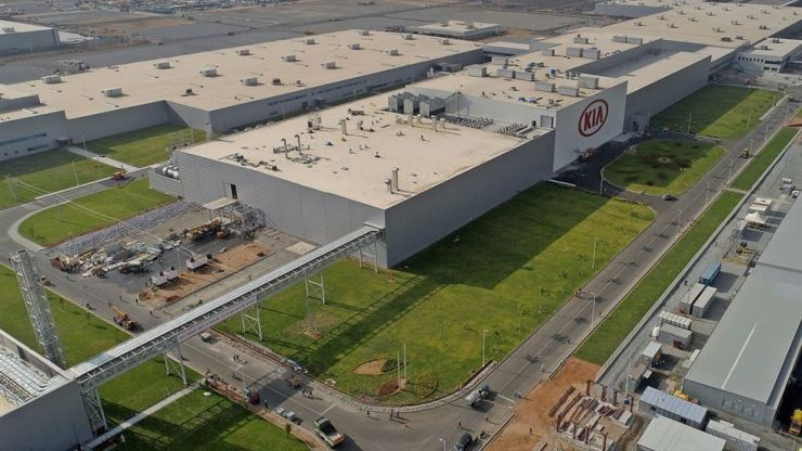 Kia Motors plant in Andhra Pradesh, India / Courtesy of Kia Motors