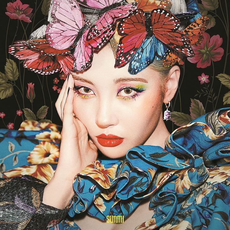 Sunmi poses for her new single, 'Lalalay,' which was released Tuesday. /Courtesy of MAKEUS Entertainment