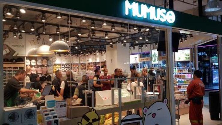 Customers at a Mumuso store in Bangkok. Yonhap
