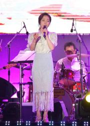 Hong Ja, a trot singer, performs at the Action for Korea United Festival in KINTEX, Gyeonggi Province, Aug. 15. Courtesy of GPF