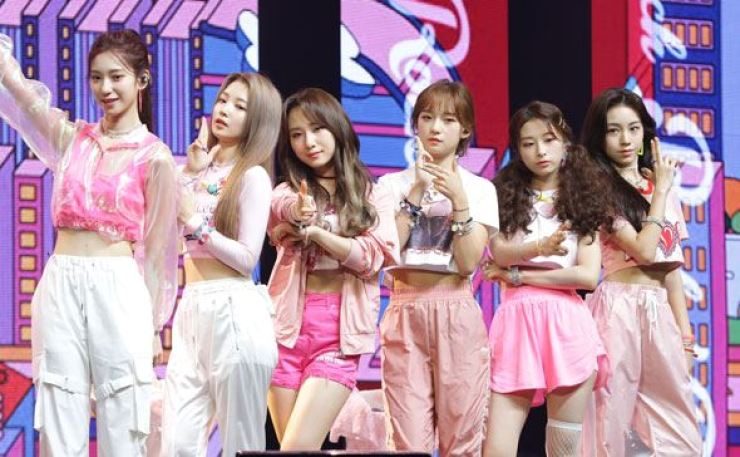 K-pop girl group Rocket Punch debuted on Wednesday. Courtesy of Woollim Entertainment
