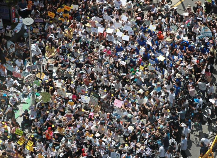 The weekly rally has continued since Jan. 8, 1992, seeking Japan's apology to former
