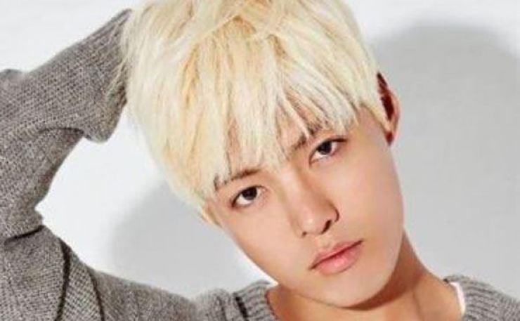 Korean-Japanese singer KangNam. Capture from KangNam's Facebook
