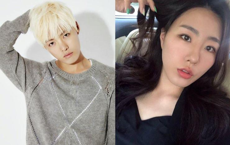 Trot singer Kangnam and retired speed skater Lee Sang-hwa will marry on October 12. /Capture from Instagram @kangkangnam and @sanghwazz