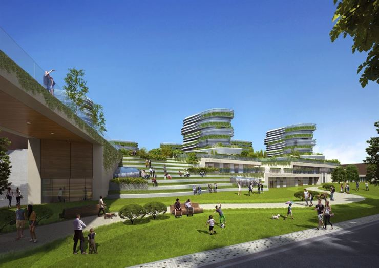 A possible image of what the public housing complex will look like from the side next to the expressway / Courtesy of Seoul Housing & Communities Corp.