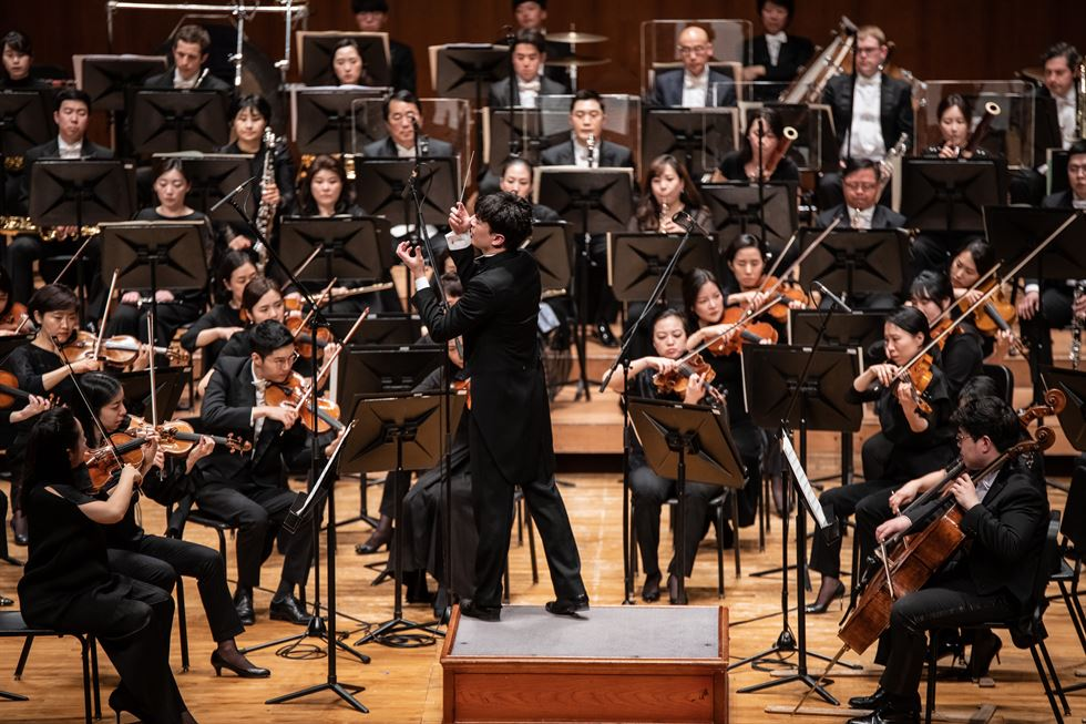 Wilson Ng has been serving as the Seoul Philharmonic Orchestra's associate conductor since January. Courtesy of Seoul Philharmonic Orchestra