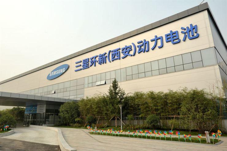 Samsung SDI's battery manufacturing plant in Xi'an, China / Courtesy of Samsung SDI