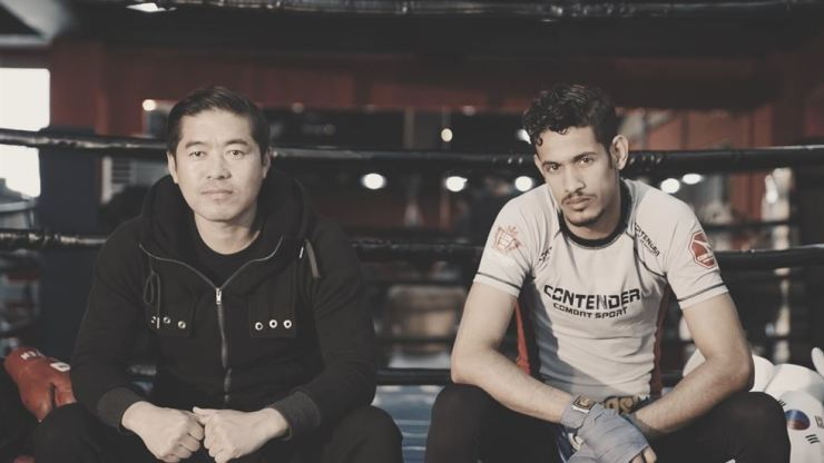 Heo Chang-hee, left, and Ahmed Askar. Courtesy of Neil George