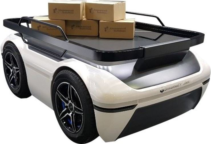 The WITH:US LoGi delivery robot. / Courtesy of Unmanned Solution
