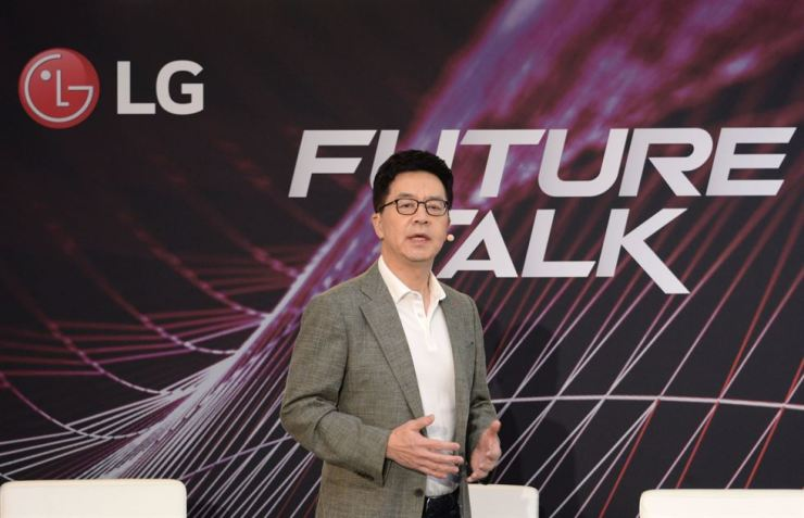 I.P. Park, Chief Technology Officer of LG Electronics, speaks during a press conference at the IFA electronics trade fair in Berlin, Thursday. / Courtesy of LG Electronics