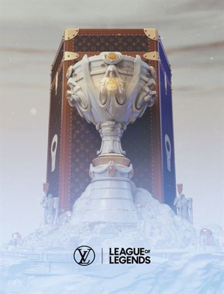 Seen is a trophy case for the League of Legends World Championship esports event, designed by Louis Vuitton. / Courtesy of Riot Games