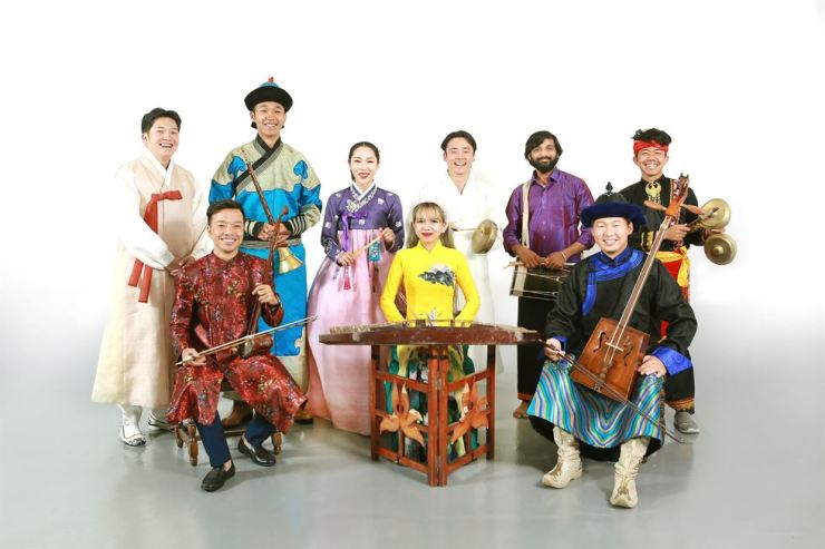 Musicians from Korea, Mongolia, Vietnam, India and Indonesia gather for 'Asia SORI Project 2019,' presenting their performance during the National Gugak Center's '2019 World Music.' Courtesy of National Gugak Center