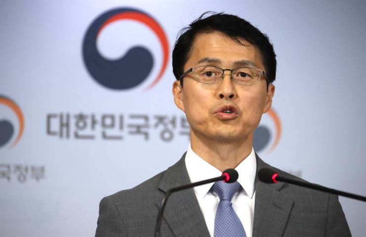Choi Won-ho, director-general of the space and nuclear bureau at the Ministry of Science and ICT, speaks during a news conference at the government complex in Seoul, Thursday. / Yonhap