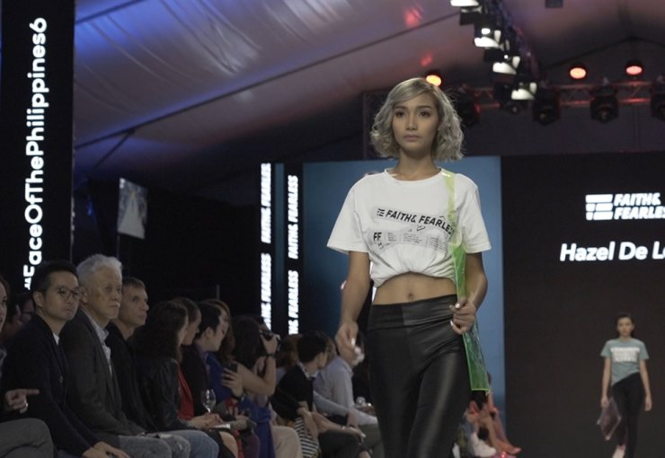 Grand prize winner Hazel De Leon is on the runway for fashion brand Faith & Fearless. Photo by Kim Kang-min