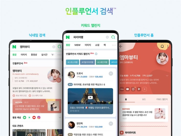Naver will begin a beta service for its influencer search within the year. / Courtesy of Naver