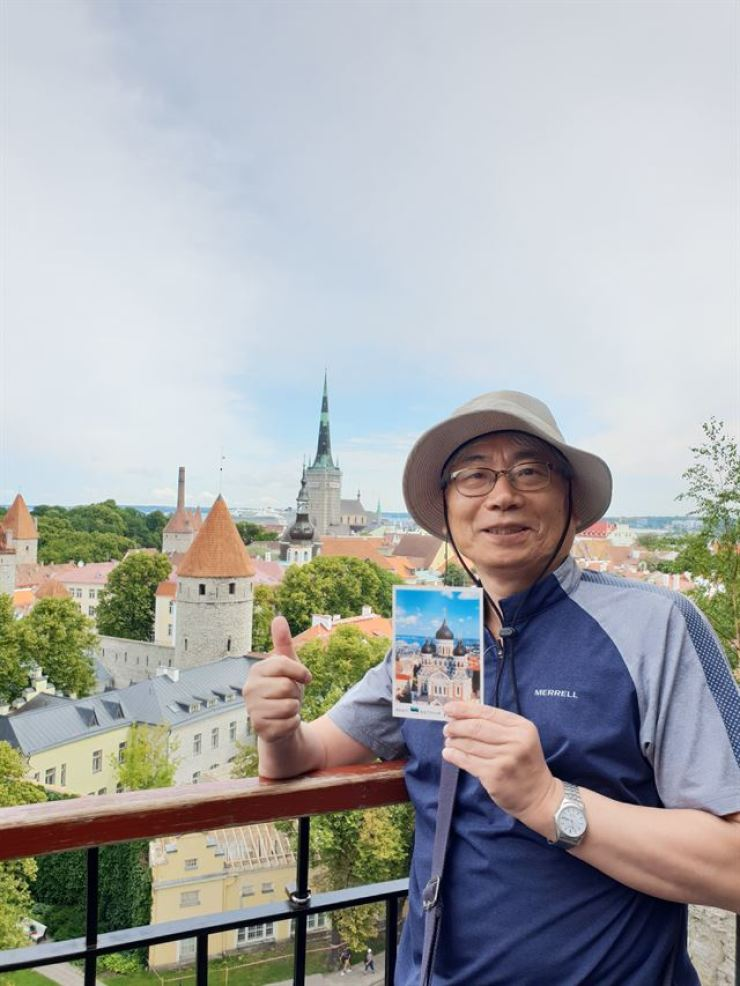 Park Jong-cheol, professor of herbal medicine resources at Sunchon National University poses in this photo taken in July this year in the Balkan state of Estonia. / Courtesy of Park Jong-cheol