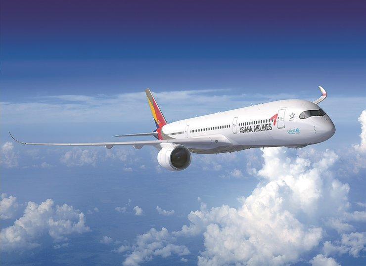 Asiana Airlines' Airbus A350 / Korea Times file