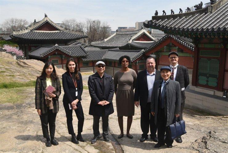 A tour group visits Gyeonghui Palace. / Courtesy of RASKB