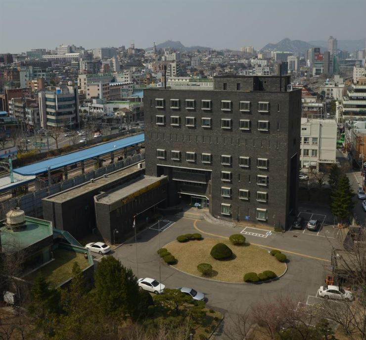 This black brick building next to Namyeong Station on Seoul Metro Line 1 used to be a police site used to torture student activists in the 1980s. / Korea Times photo by Jon Dunbar