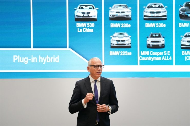 BMW Group Chief Marketing Officer and board member Pieter Nota speaks during the company's press conference at the BMW Driving Center in Incheon, Wednesday. / Courtesy of BMW Korea