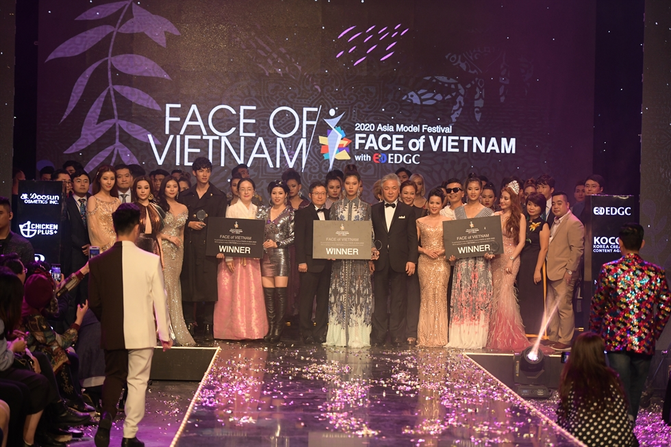 The FACE of Vietnam 2020 with EDGC was held at the Hanoi VTV studio on Nov. 17. Courtesy of AMFOC