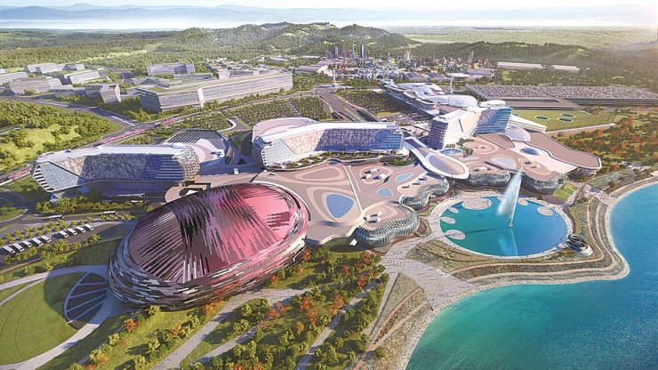 A rendering of Inspire, an integrated resort scheduled to open in 2022 in Incheon. Courtesy of Incheon International Airport Corp.
