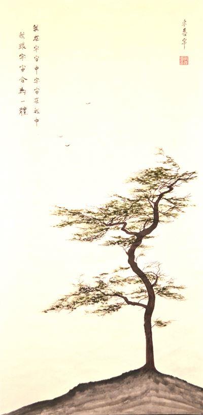 Golden Ginkgo, ink on Hanji