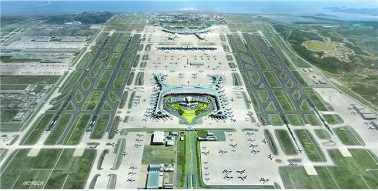 Aerial photo of Incheon International Airport / Courtesy of IIAC