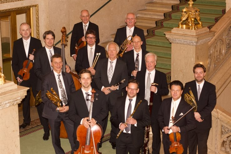 Thirteen members of the Philharmonic Ensemble Vienna will perform a New Year's Concert./Courtesy of Dumir