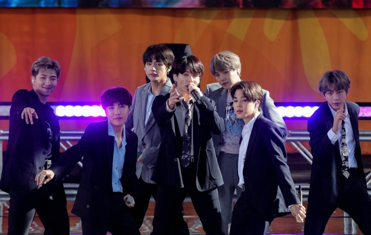 Members of K-Pop band BTS perform on ABC's 'Good Morning America' show in Central Park in New York City, May 15, 2019. Reuters